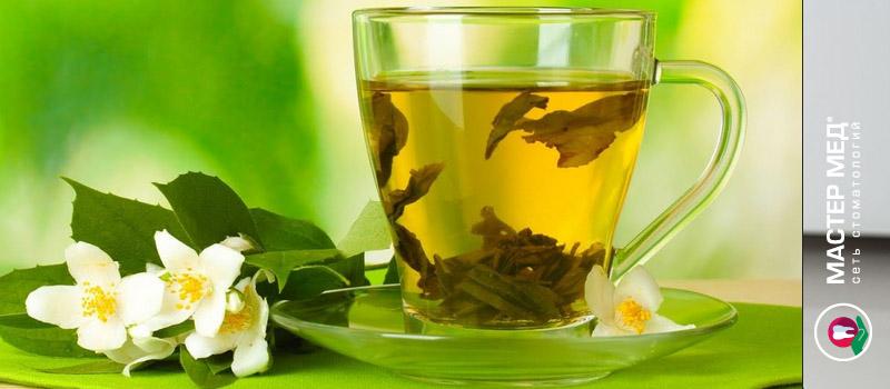 Зеленый чай имеет полезное влияние на зубы и десна